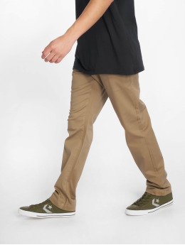Volcom Látkové kalhoty Frickin Modern Stret hnědožlutý