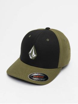 Volcom Lastebilsjåfør- / flexfitted caps Full Stone Hthr Xfit grøn