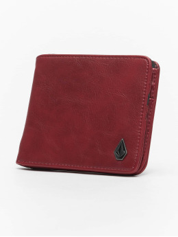 Volcom Portefeuille Slim Stone Pu Wlt L  rouge