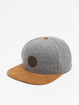 Volcom snapback cap Quarter Fabric grijs