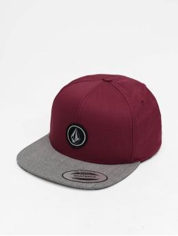 Volcom Snapback Caps Quarter Twill červený