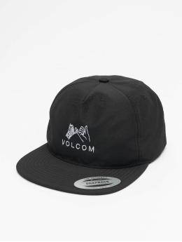 Volcom Snapback Caps Stone Mixer czarny