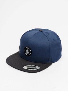 Volcom Snapback Caps Quarter Twill modrý