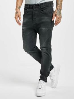 VSCT Clubwear Облегающие джинсы Keanu Lowcrotch черный