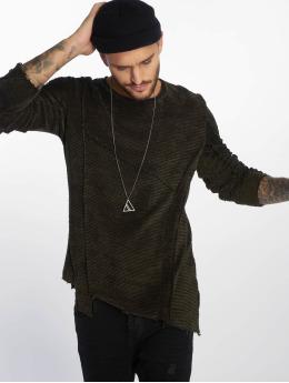 VSCT Clubwear Пуловер Raw Cut зеленый