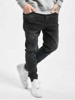 VSCT Clubwear Antifit-farkut Noah Cuffed Sunfaded musta