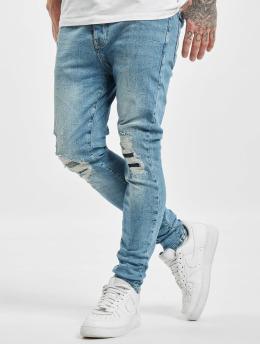 VSCT Clubwear Antifit-farkut Thor Slim 5 Pocket Destroyed sininen