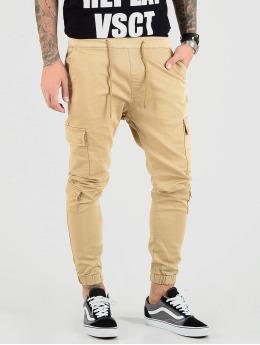 VSCT Clubwear Cargo pants Nexus Straight Cuffed béžový