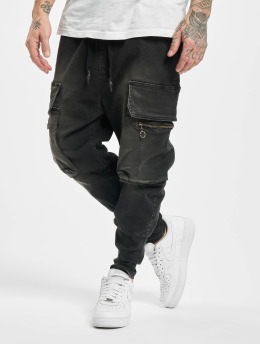 VSCT Clubwear Cargobroek Logan Antifit Denim zwart