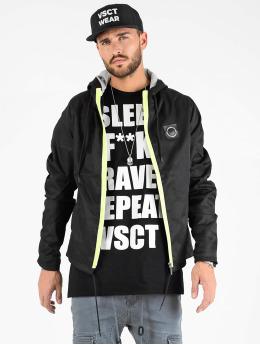 VSCT Clubwear Chaqueta de entretiempo Conzraast Neon Zipper negro