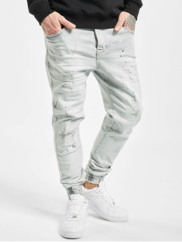 VSCT Clubwear Jean carotte antifit Noah Cuffed Sunfaded  gris