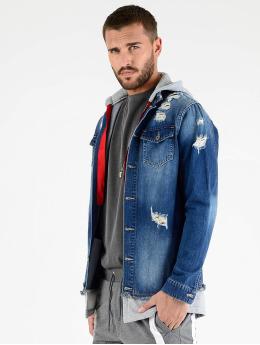 VSCT Clubwear Jeansjacken 2 In 1 Hybrid blau