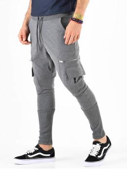 VSCT Clubwear Joggingbyxor Low Crotch Slim Leg Cargo grå