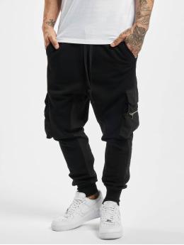 VSCT Clubwear Jogginghose Mix Fabric Future Baggy schwarz