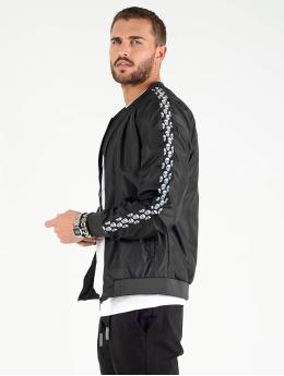 VSCT Clubwear Kurtki przejściowe Skull Striped czarny