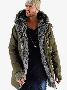 VSCT Clubwear Manteau hiver Double Zipper Luxury  kaki