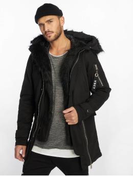 VSCT Clubwear Manteau hiver Zip Decor noir