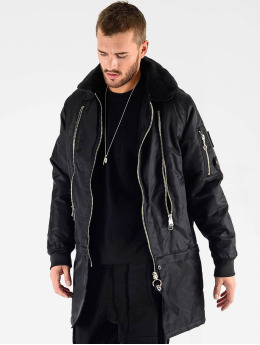 VSCT Clubwear Manteau hiver Huge Decor Zipper noir