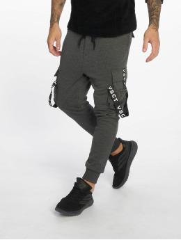 VSCT Clubwear Pantalon cargo Logo Tape gris