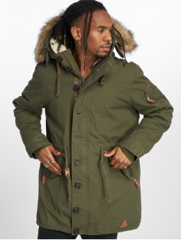 VSCT Clubwear Parka Luxury Parka With Detachable Sherpa khaki
