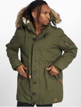 VSCT Clubwear Parkatakki Luxury Parka With Detachable Sherpa khakiruskea