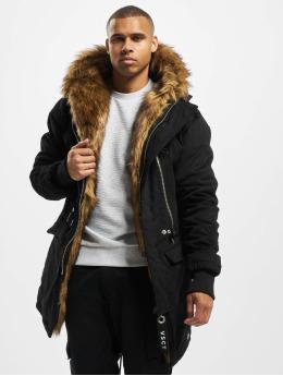 VSCT Clubwear Parkatakki Double-Zipper Huge Luxury musta