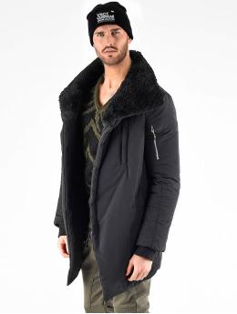 VSCT Clubwear Parkatakki Asymetric Luxury Zipper  musta