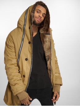 VSCT Clubwear Parkatakki Double-Zipper Huge Luxury ruskea