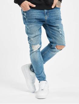 21d815133dc833 VSCT Clubwear Skinny Jeans Thor Knee Cut Slim Fit blau