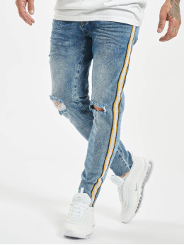 VSCT Clubwear Skinny jeans Keanu Racing Stripe blauw