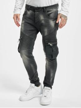 VSCT Clubwear Skinny Jeans Knox Biker Cargo czarny