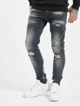 VSCT Clubwear Skinny jeans Knox Leg Bottom Zip svart