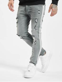 VSCT Clubwear Slim Fit Jeans Knox Handpaint Stripe серый