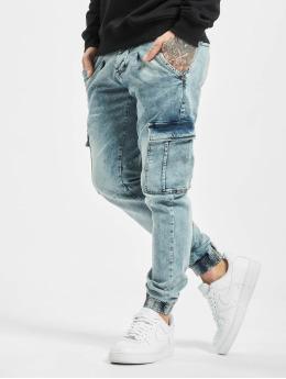 VSCT Clubwear Slim Fit Jeans Noah Snowwash синий