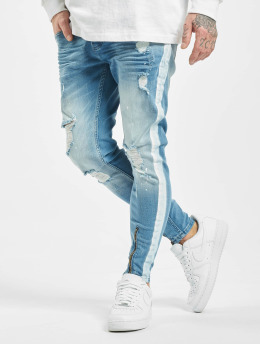 VSCT Clubwear Slim Fit Jeans Thor With Stripe hvid