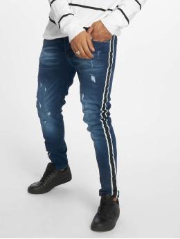VSCT Clubwear Slim Fit Jeans Thor Stripe modrý