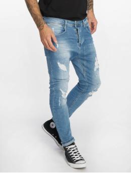VSCT Clubwear Slim Fit Jeans Keanu Lowcrotch modrý