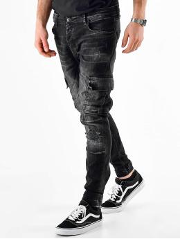 VSCT Clubwear Spodnie Chino/Cargo Knox Adjust Hem czarny