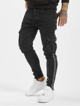 VSCT Clubwear Spodnie Chino/Cargo Keanu Cargo czarny