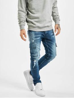VSCT Clubwear Spodnie Chino/Cargo Knox Adjust Hem niebieski