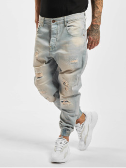 VSCT Clubwear Straight fit jeans Noah Cuffed blauw