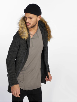 VSCT Clubwear Strickjacke Hooded Luxury Knit grau