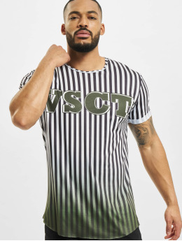 VSCT Clubwear T-Shirt Graded Coach Striped Logo blanc