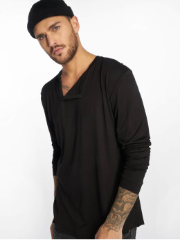 VSCT Clubwear T-Shirt manches longues Cut Collar noir