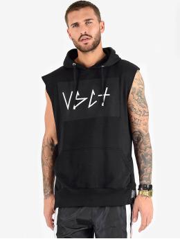 VSCT Clubwear Tank Tops Clubwear Logo Hooded musta