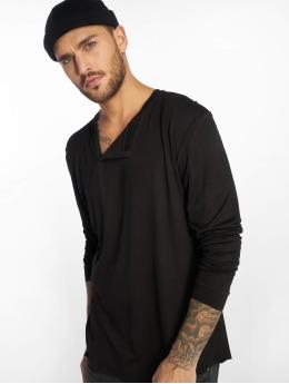 VSCT Clubwear Tričká dlhý rukáv Cut Collar èierna