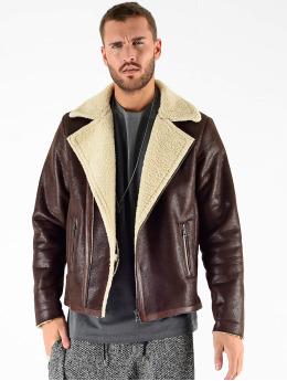 VSCT Clubwear Vinterjakke VSCT Clubwear Sheepskin Biker Jacket brun