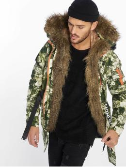 VSCT Clubwear Zimní bundy 2 Face Woodland Camo kamufláž