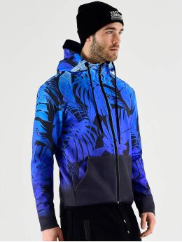 VSCT Clubwear Zip Hoodie Graded Tech Fleece Hooded Leaf-Camo niebieski