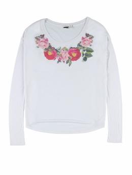 Weebit Longsleeve Flower weiß
